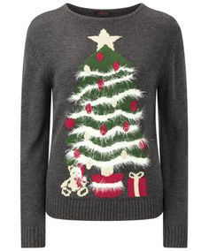 Women's Knitwear   Christmas Tree Novelty Knit   Women's Clothing at Joe Browns