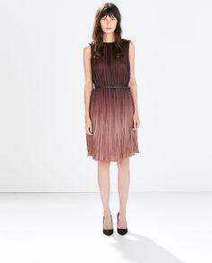 Image 1 of OMBRE DRESS WITH BELT from Zara