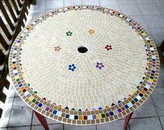 Tampo de mesa em Mosaico 60 cm