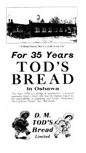 Advertisement for Tod's Bread
