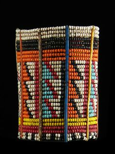 Africa | A beaded bracelet from the Masai people in Kenya | ca. 1970s