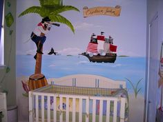 Captain John's NYC Pirate Mural- Via Project Nursery - ©Murals and more by Patrice