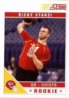 2011 Score Football Card # 379 Ricky Stanzi RC - Kansas City Chiefs (RC - Rookie Card) NFL Trading Card In a Protective Screwdown Case! by SCORE. $3.95. 2011 Panini Score Football Card # 379 Ricky Stanzi - Chiefs