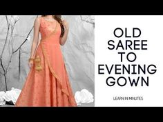 step by step learning. Girls Dresses Sewing, Frocks For Girls, Dress Sewing Patterns, Baby Dresses, Dresses Dresses, Saree Gown, Anarkali Dress, Long Anarkali, Lehenga