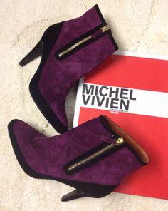 Michel Vivien - Shoes Boots Cachemire Gothic Purple