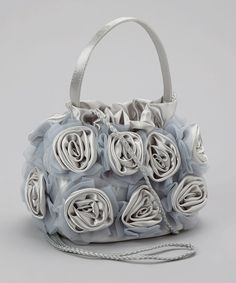 Take a look at this Cloud Silver Carrie Clutch on zulily today!