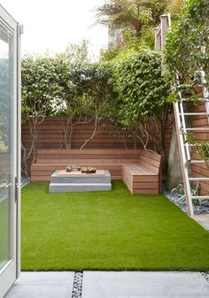 Modern Patio with Pathway, Fence, South West Greens Artificial Grass, How to make an outdoor sectional, French doors