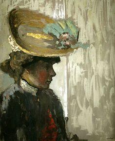 Model in a Large Hat-c.1908 by Edouard Vuillard