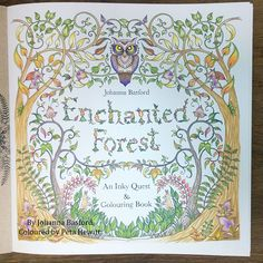 Enchanting pictures of Enchanted Forest. My first finished pages. – La Artistino – Peta Hewitt