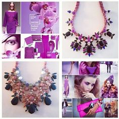 Radiant Orchid Pantone Color of 2014 ~ doing the happy dance...they are all so beautiful!!! I can't wait to see everywhere
