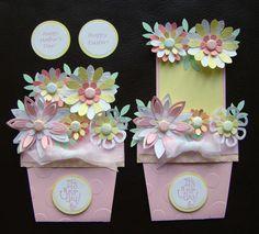 Stampin Up Handmade Flower Pot Card for Birthday Easter Spring Mother's Day | eBay