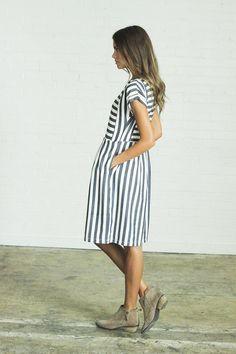 Bib Stripe Dress – Mindy Mae's Market