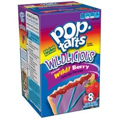 Pop-Tarts Breakfast Toaster Pastries, Wildlicious Frosted Wild Berry Flavored, Bulk Size, 96 Count (Pack of oz Boxes) - Food Wild Berry Pop Tarts, Yummy Snacks, Snack Recipes, Delicious Food, Healthy Snacks, Pop Tart Flavors, Fudge Flavors, Biscuits, Balanced Breakfast
