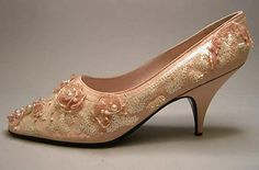 Shoes, Evening  Christian Dior  (French, Granville 1905–1957 Montecatini) MET