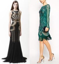 27 Shining Art Deco Bridesmaids' Dresses | HappyWedd.com