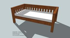 Ana White   Build a Simple Daybed   Free and Easy DIY Project and Furniture Plans