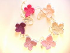 Crochet Butterfly Garland  Bunting by Crochetonatree on Etsy, €30.00 #teampinterest#