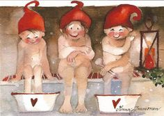 Postcrossing postcard from Finland Christmas Sewing, Christmas Time, Christmas Cards, Scandinavian Gnomes, Scandinavian Christmas, Christmas Illustration, Illustration Art, Baumgarten, Art Themes