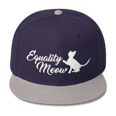63400103c3122 Equality Meow - Feminism Wool Blend Snapback Hat Feminist Pro-Feminism  Apparel Style Clothing Gift