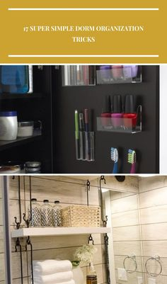 Use removable plastic pods to keep your toiletries organized if you don't have much storage sace best bathroom decor 17 Super Simple Dorm Organization Tricks