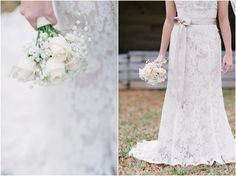 Rose and Baby's Breath Wedding Bouquet