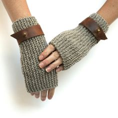 Wool Fingerless Gloves ($58) ❤ liked on Polyvore featuring accessories and gloves
