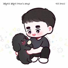 Exo Cartoon, Cartoon Art, Kyungsoo, Kaisoo, Exo Stickers, Exo Anime, Chibi Boy, Exo Fan Art, Disney Princess Drawings