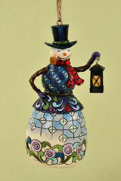 Snowman With Lantern Hanging Ornament Jim Shore Christmas Christmas Ornaments To Make Merry Christmas