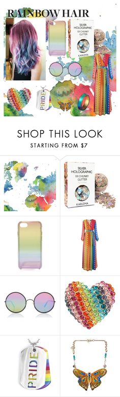 """Rainbow Hair"" by ditsydot19 ❤ liked on Polyvore featuring beauty, WALL, Rebecca Minkoff, Just Cavalli, Sunday Somewhere, Betsey Johnson, West Coast Jewelry, Tarina Tarantino, WithChic and unicorn"