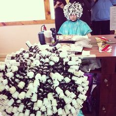 Perm Rods, Roller Set, Perms, Fantasy Hair, Permed Hairstyles, Curlers, Hair Dos, Hair Beauty, Hair Styles