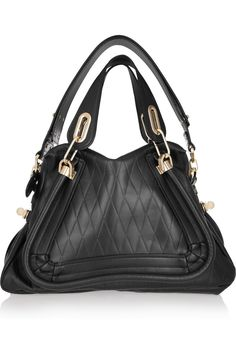 Chloé|Paraty Medium diamond-embossed leather shoulder bag|NET-A-PORTER.COM