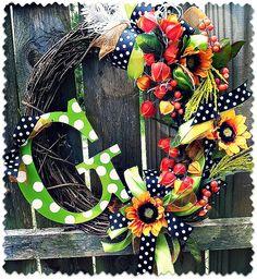 -Our pretty Fall wreath!