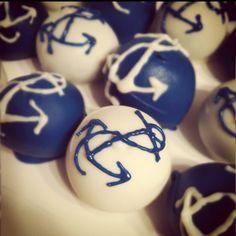 Nautical baby shower cake balls