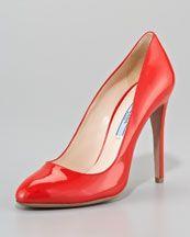 Prada  Patent Pump in Red  $620