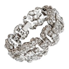 platinum and diamond art deco bracelet - beautiful!