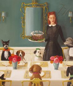 Miss Moon Was A Dog Governess. Lesson Four A by janethillstudio, $38.00