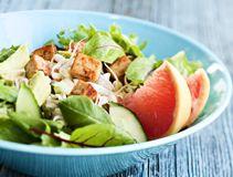 Tofu-avocado-grapefruit-salad