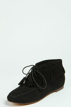 Erin Fringe Detail Ankle Boot at boohoo.com