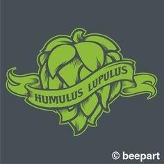 Hops craft beer fridge decal, kegerator vinyl sticker, craft beer, hop head…