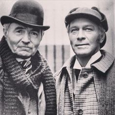 James Mason as Watson and Christopher Plummer as Sherlock Holmes from the movie Murder by Decree 1979