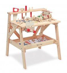 Kinderwerkbank aus Holz inkl. Zubehör