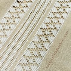This Pin was discovered by Dat Hardanger Embroidery, Hand Embroidery Stitches, Hand Embroidery Designs, Embroidery Patterns, Drawn Thread, Thread Work, Book Crafts, Diy And Crafts, Learning To Embroider