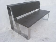 IMP has released a new product - a bench made of stainless steel and microconcrete . This product can be used both outdoors and indoors . By the end of the summer we will see how the furniture is being operated on the street under the snow, rain , sun ... If the material used will justify itself ( not crack , does not change color and so forth . ) , Then proceed to develop street furniture for sale .