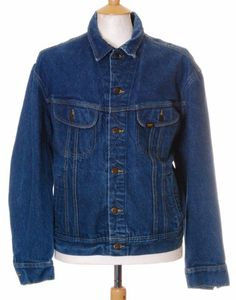 Vintage Blue Lee Riders 153438 indigo denim trucker jacket - Extra Large #EasyPin