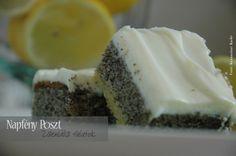 Poppy-seed cake with lemon glaze