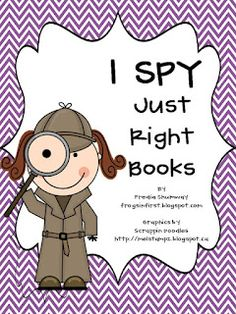 Frogs in First: I Spy Just Right Books Freebie Packet