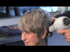 ▶ How Do I Style Hair on an Older Woman? : Great Hair Styling Advice - YouTube