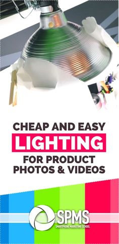 Clamp Light Photography For Your iPhone Product Photos & Videos You don't have to spend a fortune for great lighting. Discover this easy DIY setup for product ph Photography Lighting Setup, Lighting Setups, Photo Lighting, Cool Lighting, Light Photography, Diy Studio Lighting, Diy Video Lighting, Wedding Photography, Stage Lighting