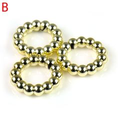 """100pcs/lot New Arrival 2.59"""" Gold Tone Jewelry Scarf Rings, PT-640B"""