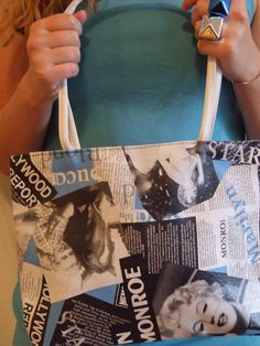 Mod Vintage Pop Art Syle Marilyn Monroe Photo Collage Purse by POPWILDLIFE, $32.00